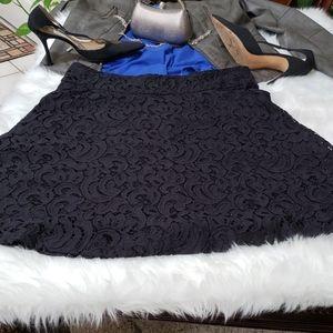 Alfani size 10 black lace skirt